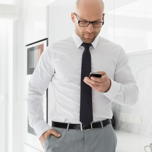 man with a cell phone